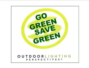 GO GREEN SAVE GREEN SIGN