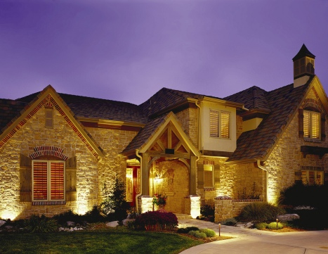 Colorado residential outdoor lighting architectural