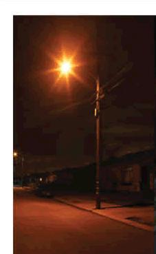 Glare From HPS Street Light
