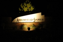 New LED Lighting at Arrowhead Shores Community Entrance