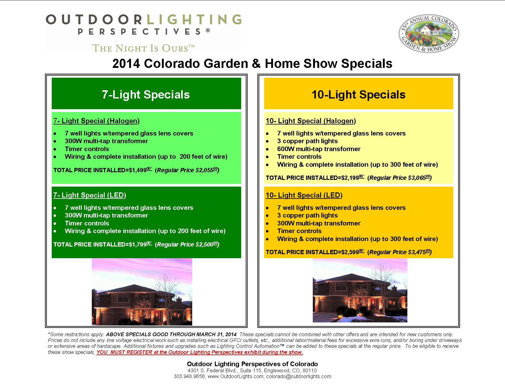 Outdoor Lighting Specials At The 2014 Colorado Garden And